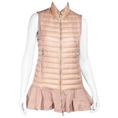 Moncler Pink Down Ruffled Vest