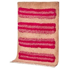 Pink Moroccan Hand Knotted Wool by Maddalena Casadei, 1.70 m x 2.40 (5.5 x 8ft)