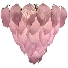 Pink Murano Glass Enchanting Italian Chandelier, 1980s