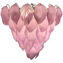 Pink Murano Glass Enchanting Italian Chandelier, circa 2000s