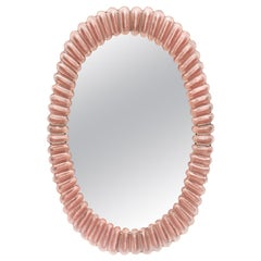 Pink Murano Glass Mirror by Fuga