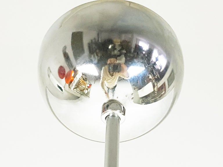Pink Murano Glass Shade and Chrome-Plated Brass 1970s Pendant Lamp For Sale 3