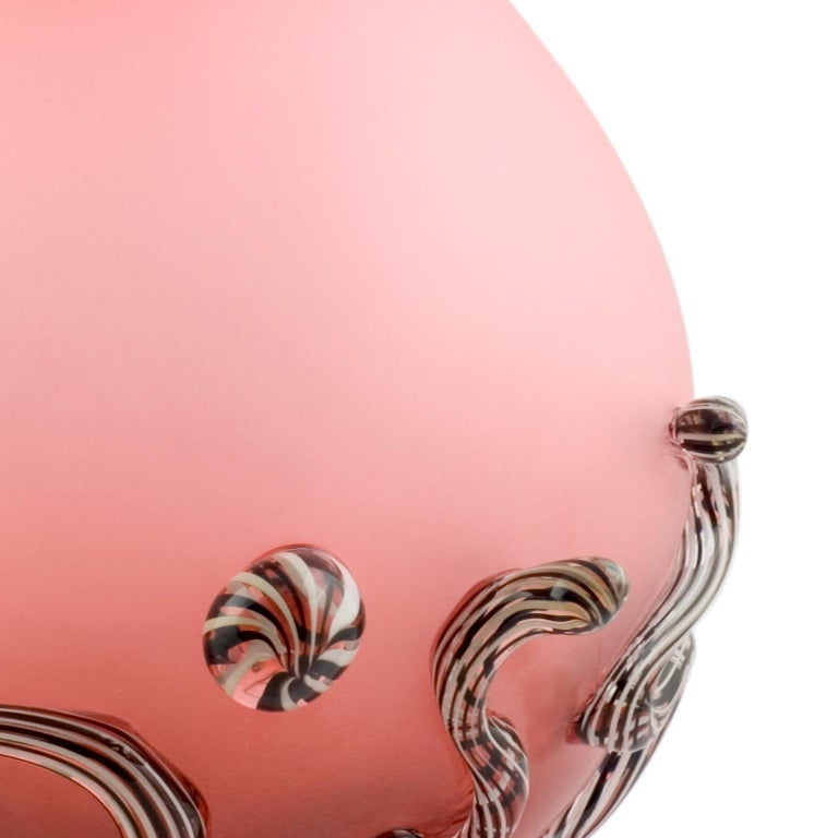 Modern Pink Oval Ball with Curls For Sale