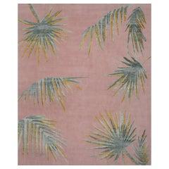 Pink Palms Rug by Ilaria Ferraro