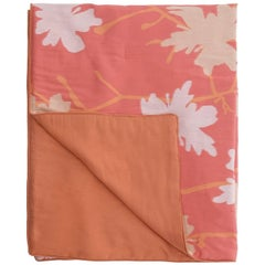 Pink Peach Flowers Quilt I