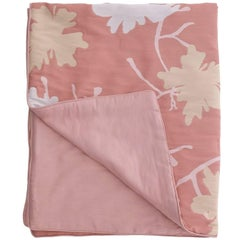 Pink Peach Flowers Quilt II