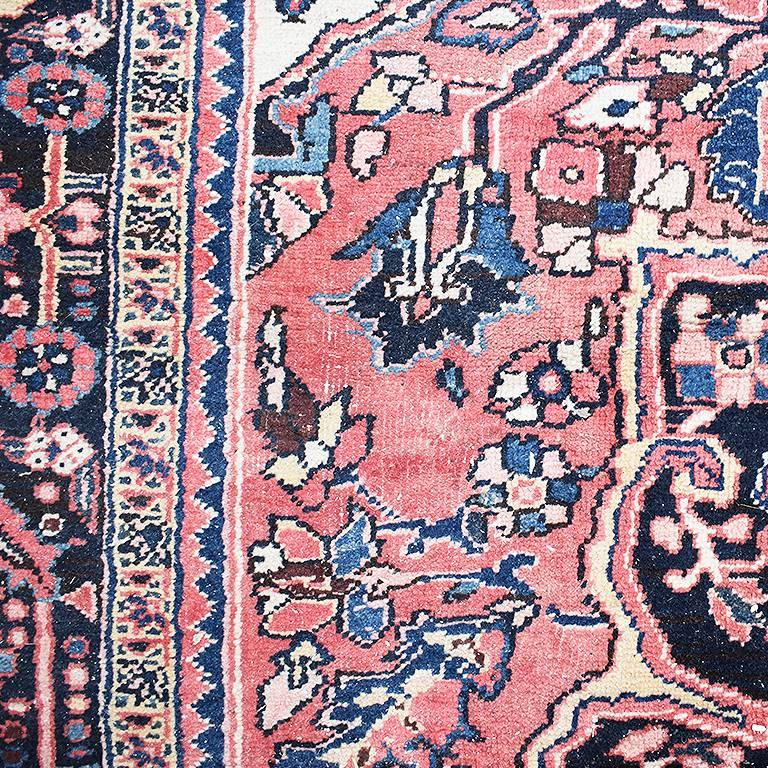 Vintage Woven Persian Heriz Rug This Has Excellent Coloring And Is In Condition