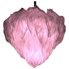 Pink Polar Murano Glass Chandelier, Italy, 1970s