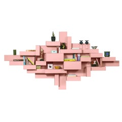Pink Primitive Bookshelf by Studio Nucleo, Made in Italy