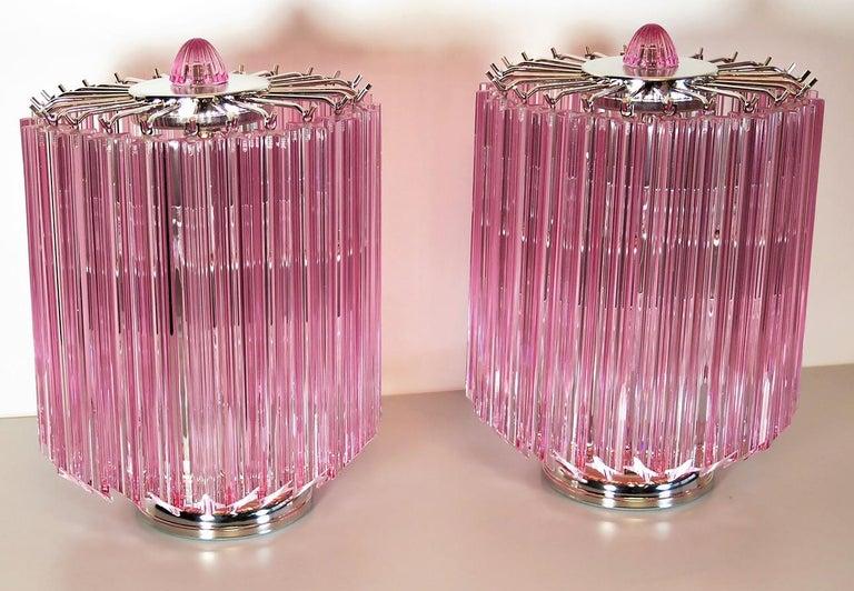 Pink Quadriedri Table Lamp, Venini Style 3