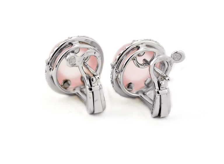 Handcrafted in Margherita Burgener family factory, based in Italy, the everyday chic pair of earclips are a true touch of elegance. The handcrafting is extremely cared making them of great effect.  Handmade in 18K white gold, with fitting and clips.