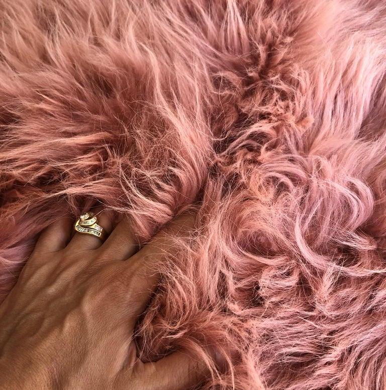Australian Pink Rust Cashmere Fur Chair Sofa Throw Blanket For Sale