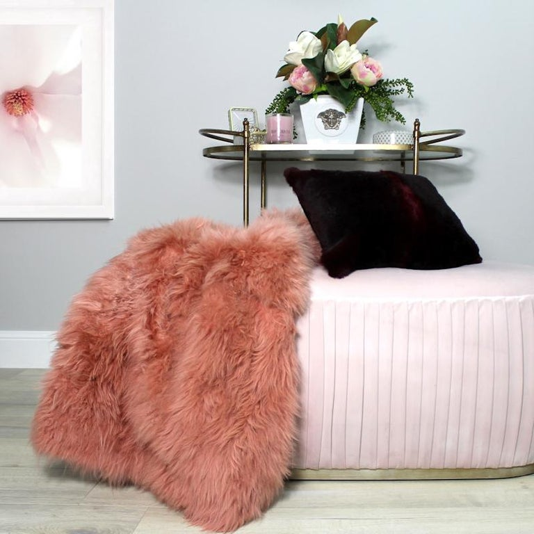 Add luxe and comfort textures to your living room by draping this limited edition genuine cashmere fur throw over a chair, sofa or bed. For those cooler evenings this petite size cashmere fur throw is a great leg warmer whilst indulging in the