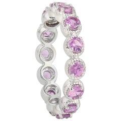 Pink Sapphire 18 Karat Gold Ring