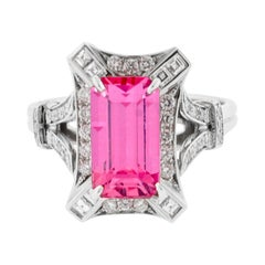 Pink Sapphire and Emerald Ring from Pampillonia