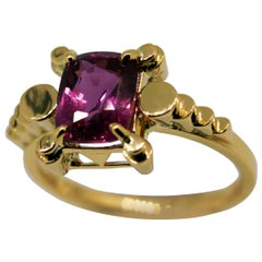 Pink Sapphire Contemporary Engagement Ring
