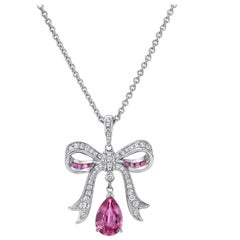 Pink Sapphire Pendant Necklace 1.94 Carat