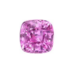 Pink Sapphire Ring Gem 4.07 Carat Cushion Loose Gemstone