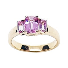 Pink Sapphire Ring set in 18 Karat Rose Gold Settings