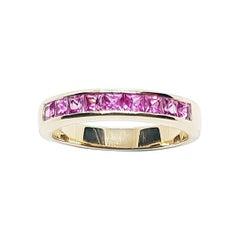 Pink Sapphire Ring Set in 18 Karat Rose Gold Settings