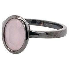Pink Smithsonite 2.88 Carat Black Gold Ring