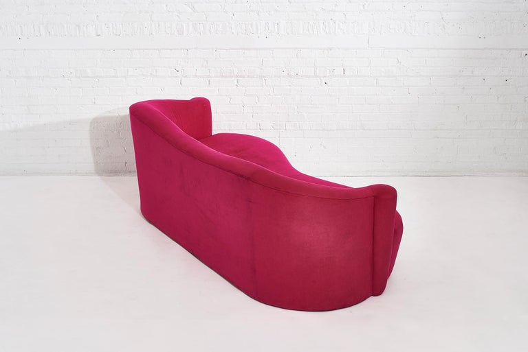 20th Century Pink Sofa by Vladimir Kagan for Weiman, 1990s For Sale