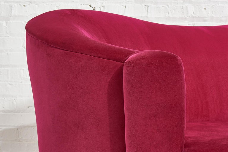 Pink Sofa by Vladimir Kagan for Weiman, 1990s For Sale 1