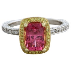 Pink Spinel Diamond Gold Ring