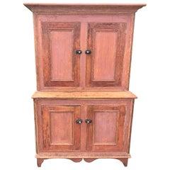 Pink Step-Back Cupboard