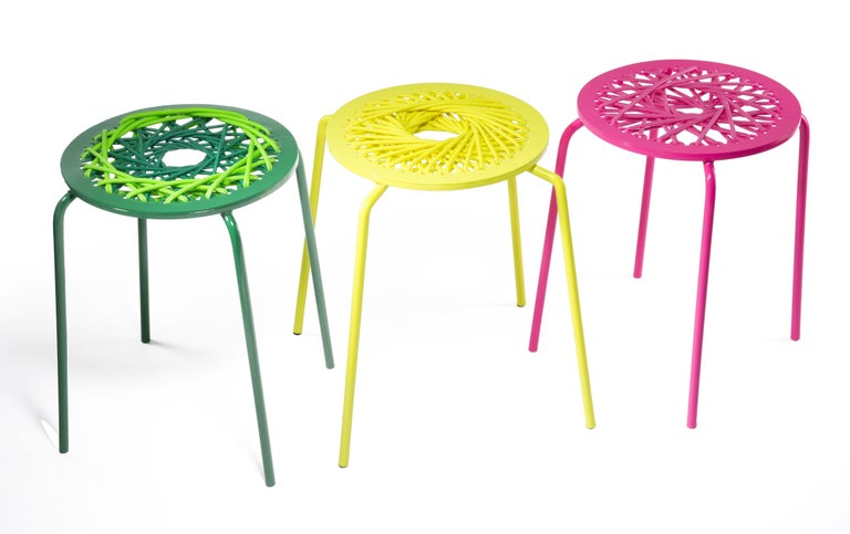 Modern Pink Stretch Stool For Sale