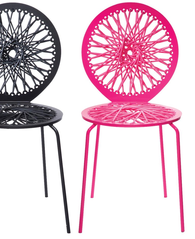 Powder-Coated Pink Stretch Stool For Sale