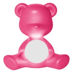 Pink Teddy Girl Lamp with LED, Made in Italy, in Stock in Los Angeles