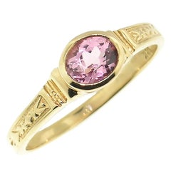 Pink Topaz in 18kt Gold Cassandra Ring by Cynthia Scott