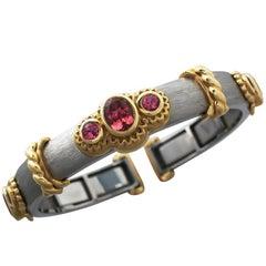 Pink Tourmaline Callista Bangle Bracelet