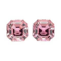 Pink Tourmaline Earring Gemstones 11.01 Carat Square Octagon Loose Gems