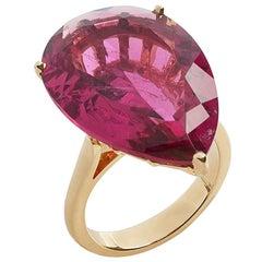 Goshwara Pear Shape Pink Tourmaline Ring