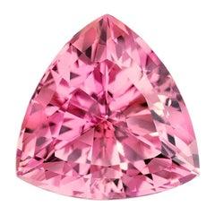 Pink Tourmaline Ring Gem 5.01 Carat Unset Trillion Loose Gemstone