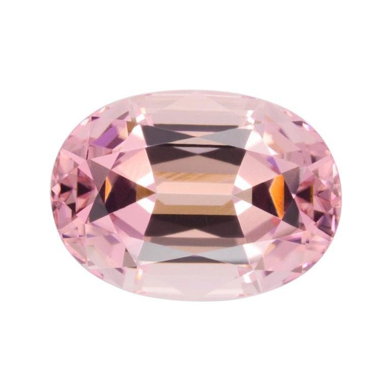 Pink Tourmaline Ring Gem 5.64 Carat Oval Loose Gemstone