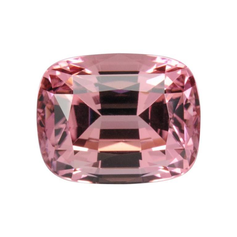 Pink Tourmaline Ring Gem 9.02 Carat Cushion Loose Gemstone