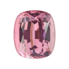 Pink Tourmaline Ring Gem 9.36 Carat Rectangular Cushion Loose Unset Gemstone