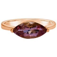 Pink Tourmaline Ring, Tourmaline Ring, Rose Gold Ring, Rose Gold Engagement Ring