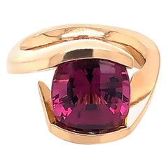Pink Tourmaline Statement Solitaire Ring
