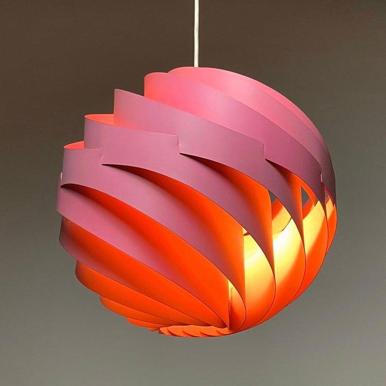 Scandinavian Modern Pink Turbo Ceiling Light by Louis Weisdorf for LYFA, Denmark, 1970 For Sale