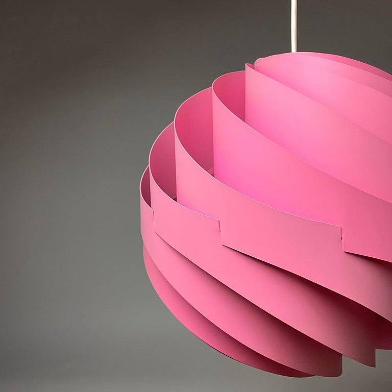 Late 20th Century Pink Turbo Ceiling Light by Louis Weisdorf for LYFA, Denmark, 1970 For Sale