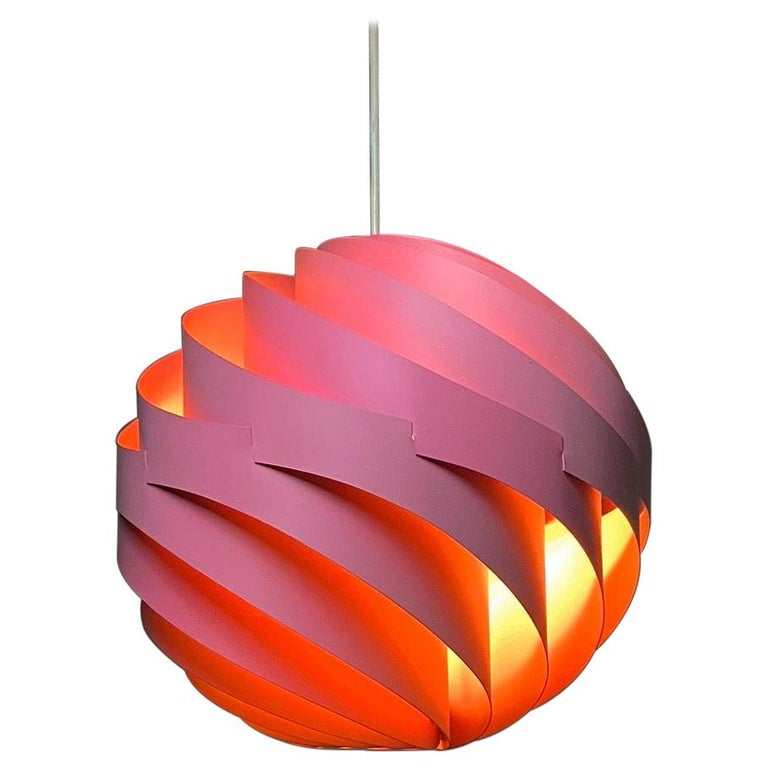Pink Turbo Ceiling Light by Louis Weisdorf for LYFA, Denmark, 1970 For Sale