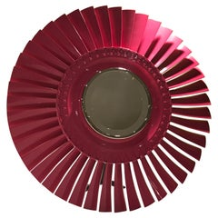 Pink Turbomeca Helicopter Mirror
