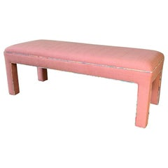 Pink Upholstered Bench Seat, circa 1980s