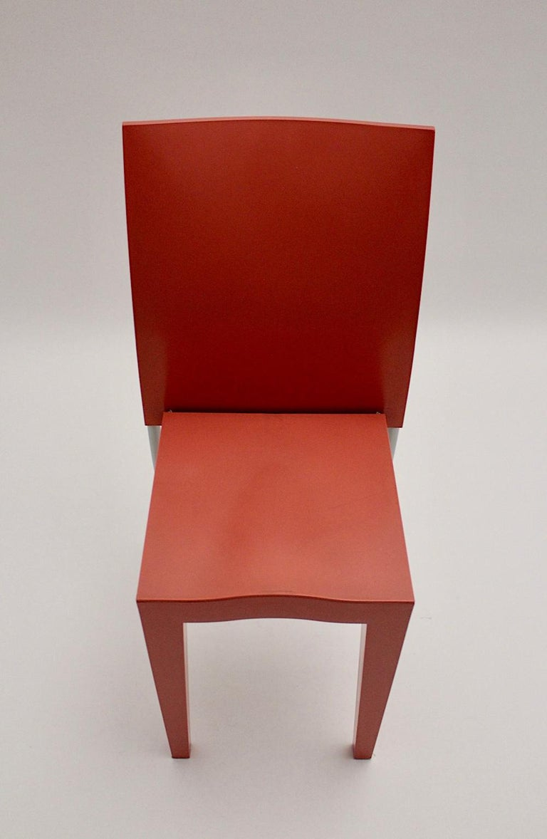 Italian Pop Art Pink Vintage Side Chair/Chair Miss Global Phillipe Starck 1980s Kartell For Sale