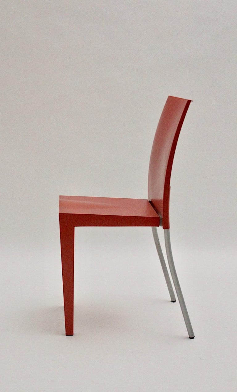 Pop Art Pink Vintage Side Chair/Chair Miss Global Phillipe Starck 1980s Kartell In Good Condition For Sale In Vienna, AT