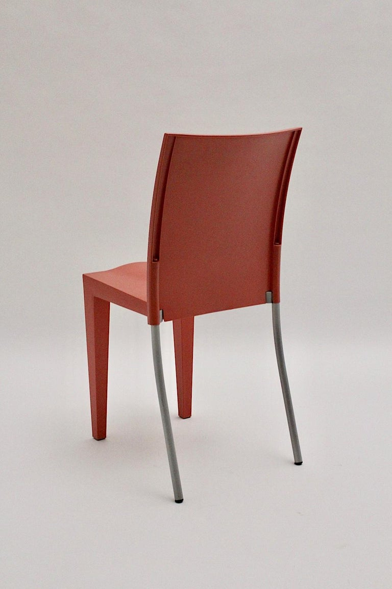 Late 20th Century Pop Art Pink Vintage Side Chair/Chair Miss Global Phillipe Starck 1980s Kartell For Sale